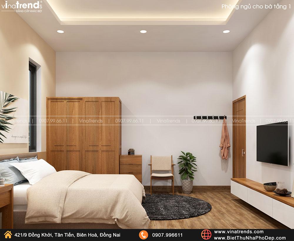 thiet ke phong ngu nguoi lon tuoi cho ba 2 Bản vẽ biệt thự 2 tầng mái Nhật 13x14m có 6 phòng ngủ tặng ba má ở tận Quảng Ngãi
