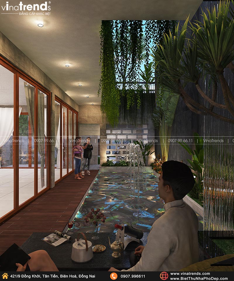 ho boi mini trong nha dep Khát Khao Mẫu Biệt Thự Đẹp 2 Tầng 2 Mặt Tiền Rộng 500m2 phủ cây Xanh tuyệt đối ở Biên Hoà