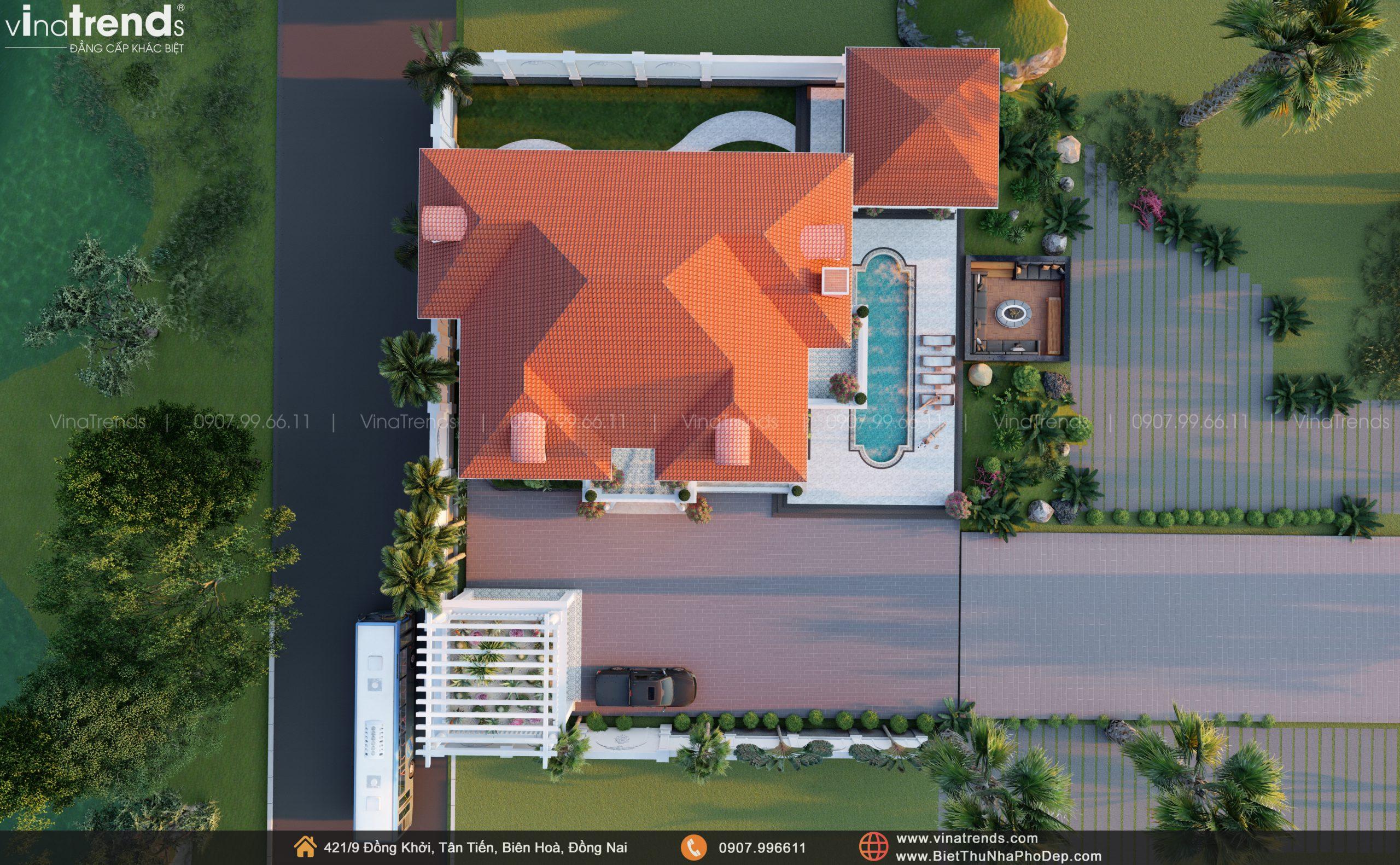 Day 07.09.21 15 scaled Mẫu nhà biệt thự 2 tầng đẹp có hồ bơi 17x20m ngói đỏ chứng tỏ giàu sang của CEO ngành vận tải ở Bình Phước