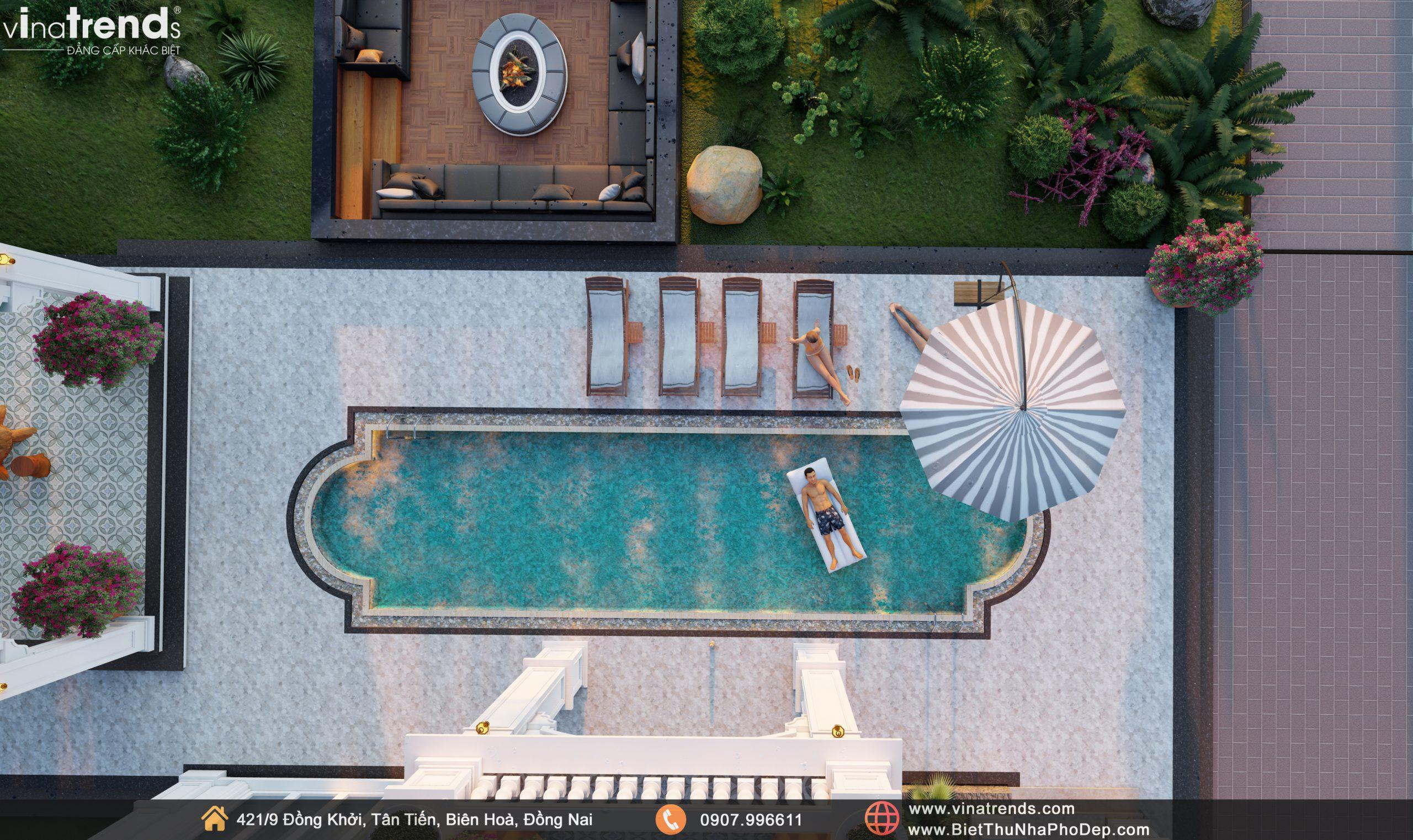 Day 07.09.21 18 scaled Mẫu nhà biệt thự 2 tầng đẹp có hồ bơi 17x20m ngói đỏ chứng tỏ giàu sang của CEO ngành vận tải ở Bình Phước