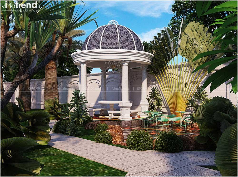 choi nghi ngoi cho biet thu co dien dep Mẫu biệt thự 2 tầng tân cổ điển Pháp 9m dài 13m nằm giữa khu vườn làm mờ nhà hàng xóm
