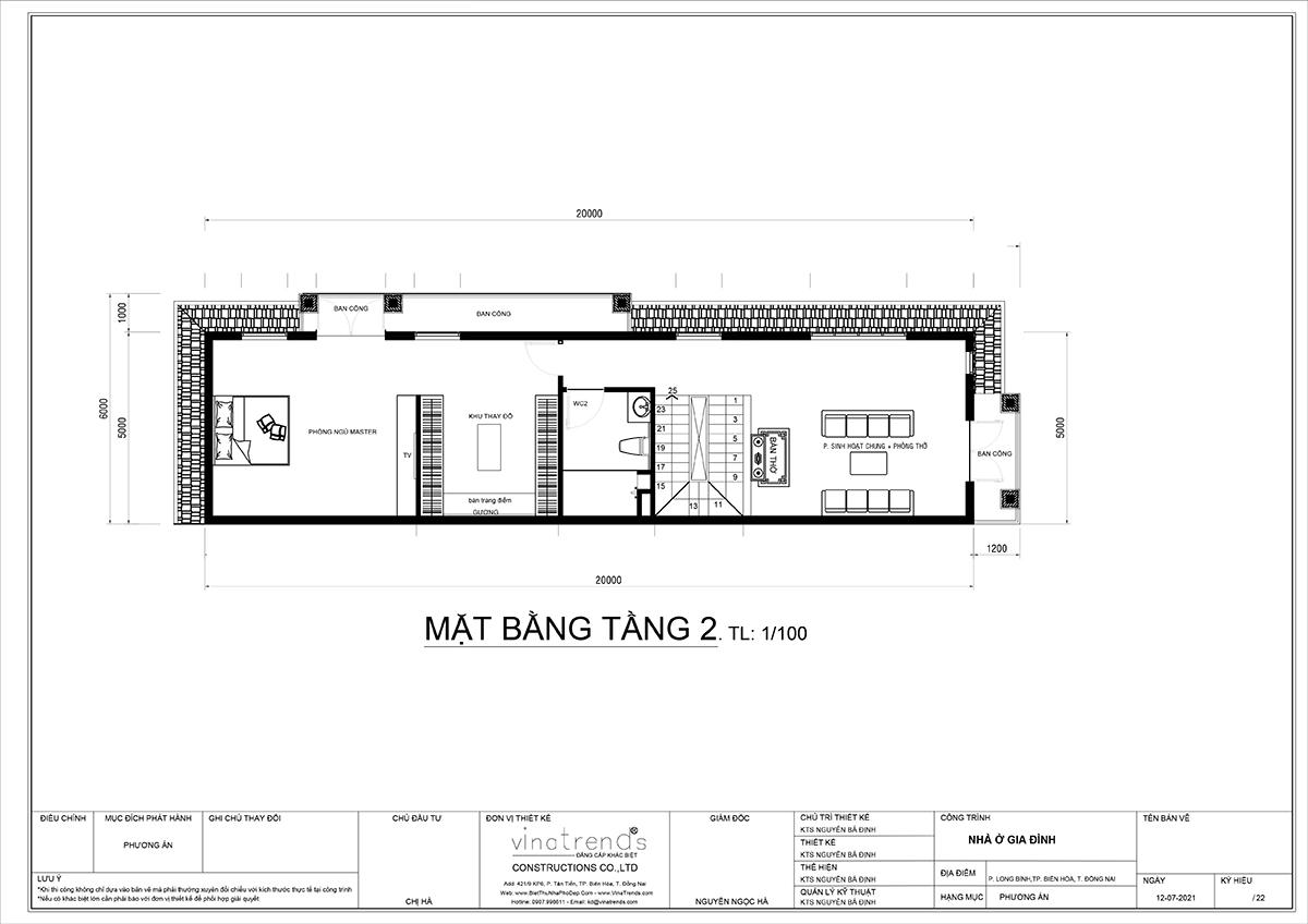 mat bang tang 2 nha 3 tang tan co dien dep mat tien 5m dai 14m Ái nữ tặng mẹ mẫu nhà biệt thự 3 tầng mái thái tân cổ điển 5m x 13,5m phòng nào cũng mát lạnh ở Biên Hoà
