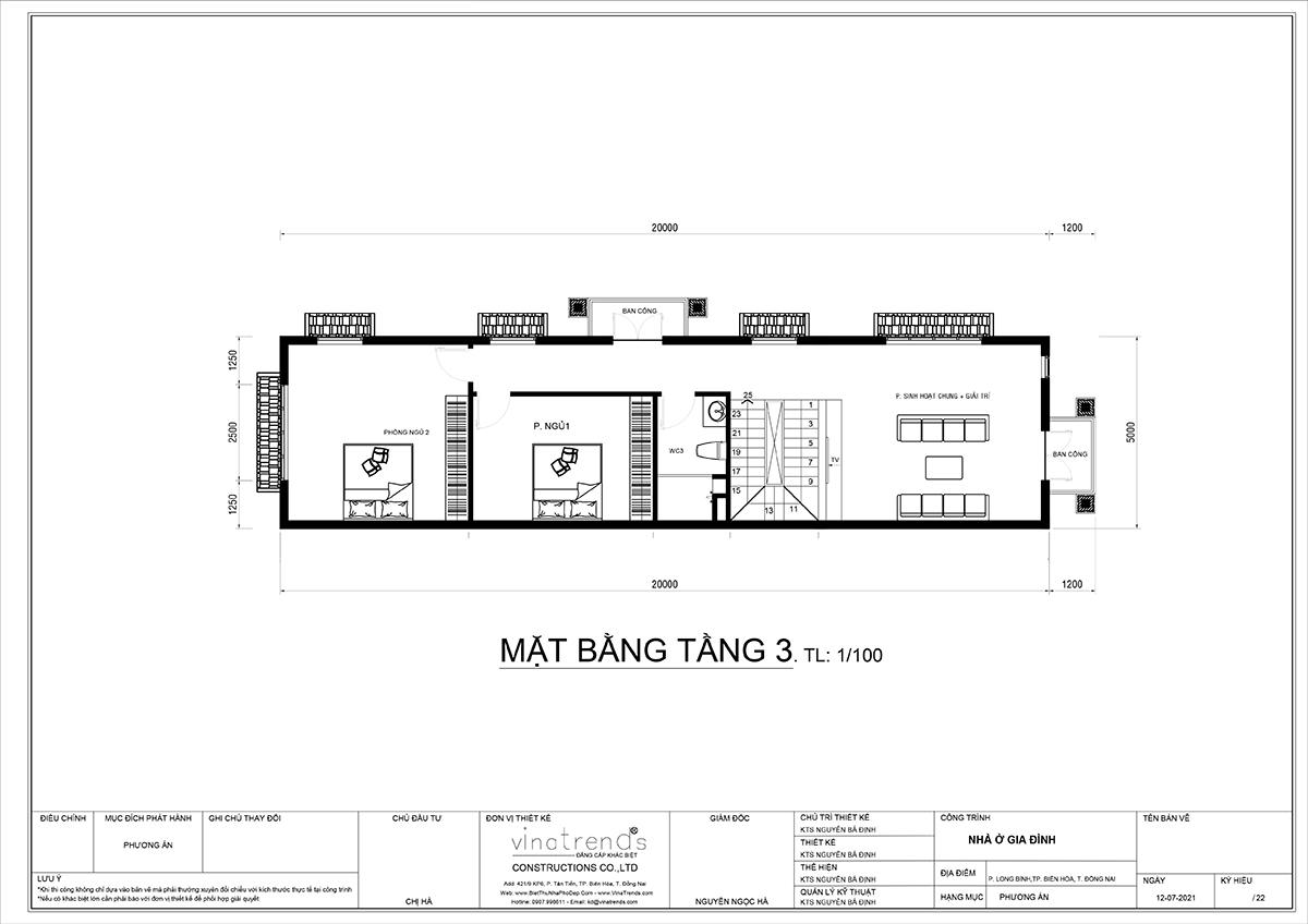 mat bang tang 3 nha 3 tang tan co dien dep mat tien 5m dai 14m Ái nữ tặng mẹ mẫu nhà biệt thự 3 tầng mái thái tân cổ điển 5m x 13,5m phòng nào cũng mát lạnh ở Biên Hoà