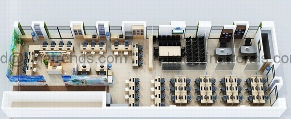 ban ve noi that van phong dep Thiết kế nội thất văn phòng đẹp 234m2 hiện đại thân thiện   NT170914A