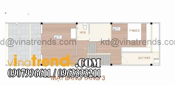 ban ve thiet ke nha dep 90m2 98411 Giản dị mẫu thiết kế nhà đẹp 90m2 của gia đình trẻ   ND190814A