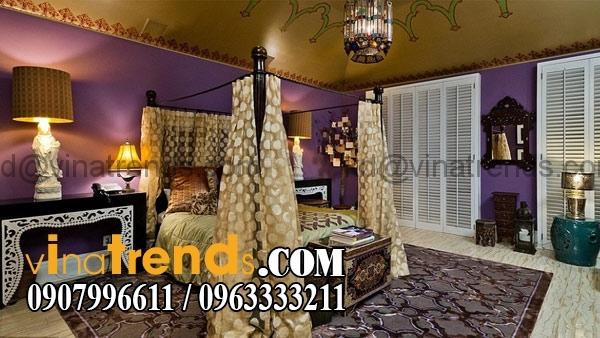 giuong ngu co dien dep 1444 Mẫu thiết kế nội thất phòng ngủ cổ điển sang trọng   NT250714A