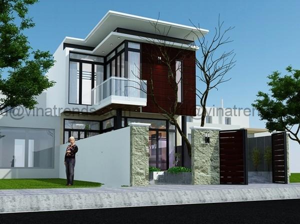 kien truc nha dep 40131 Thiết kế nhà đẹp 2 tầng hiện đại với không gian đẹp   ND280814A